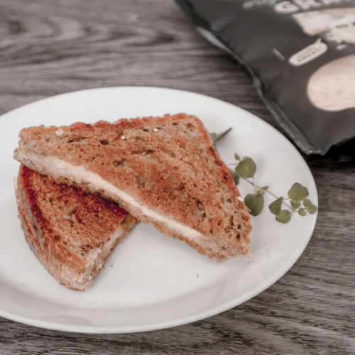 Vegan grilled cheese.
